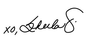 xo Sheila G signature